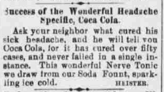 Coca-Cola_Newspaper Advertisement 1880s