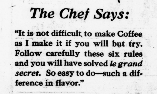 TheChef-Says-Making-coffee-Advertisement-1923
