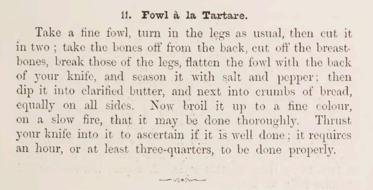 Fowl a la Tartare Recipe 1895