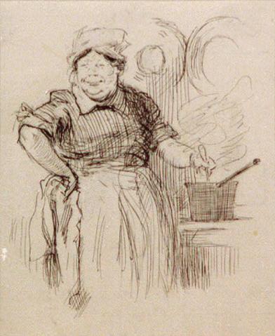 Thomas Fogarty, Fat cook stirring pot 1890
