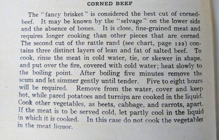 Corned Beef Recipe 1902