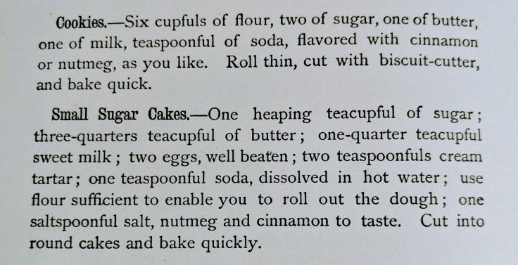 Small Sugar Cakes Recipe 1902