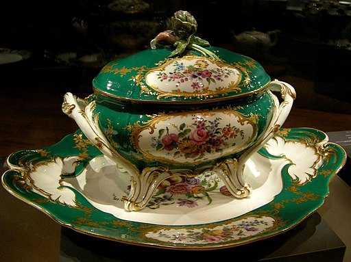 François Micaud (French 1732/35-1811): soup tureen and tray
