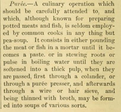 1870s soup puree description