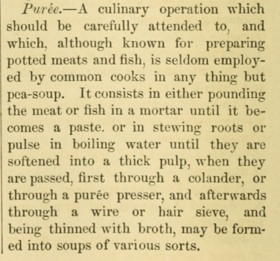 1870s soup puree description