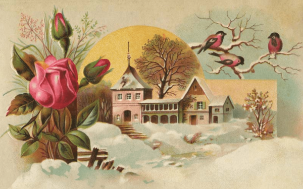 Early Spring Victorian Postcard