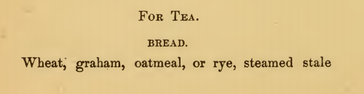 General Bill of Tea Fare Golden Mean Cookery