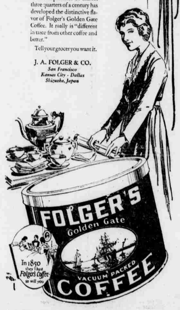 Folger-Advertisement-1922-Golden-Gate