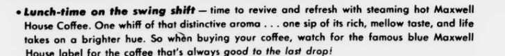 Maxwell House 1943