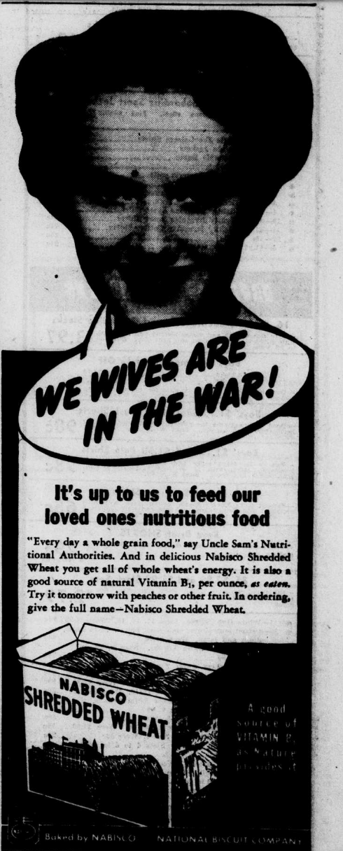 Shredded Wheat WWII Advertisement